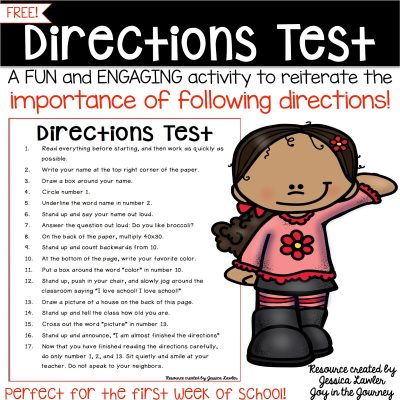 FREE Directions Test