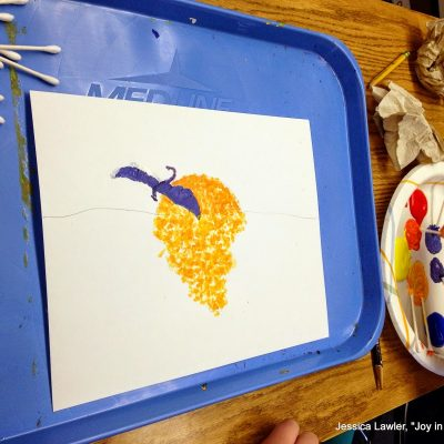 Pointillism – AKA Painting with Q-Tips!