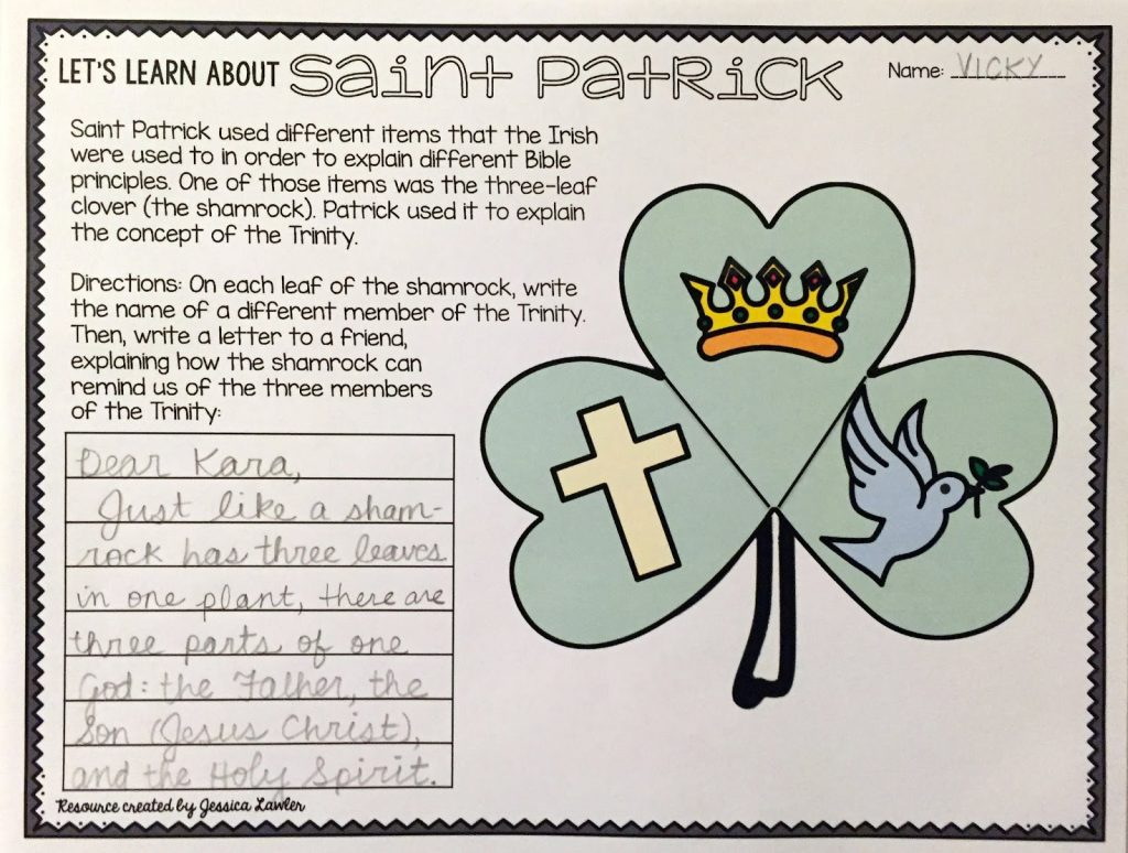 "Looking for something to teach your students about the true story of Saint Patrick? If so, this print-and-go St. Patrick biography Bible packet is the just-right thing for you! Take the opportunity to teach your students about this brave man with a heart for sharing the Gospel of Jesus Christ! Resource created by Jessica Lawler, ""Joy in the Journey"""