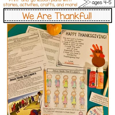 Thanksgiving Bible Unit for Elementary Students