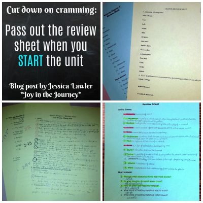 A Tip to Prevent Last-Minute Cramming