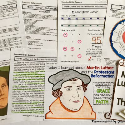 Martin Luther and the Protestant Reformation: Preschool Activities