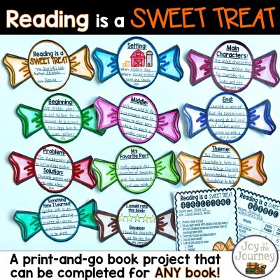 Halloween Book Project for ANY Book: Reading is a SWEET TREAT