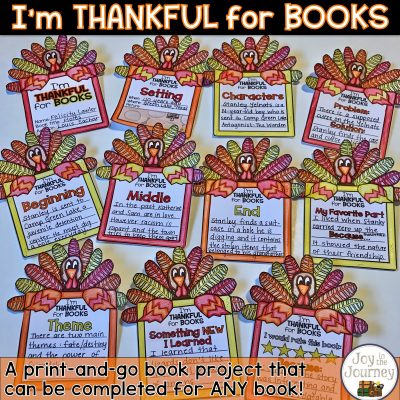 I'm Thankful for Books November Book Project
