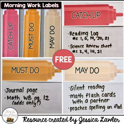FREE Condiment Morning Labels