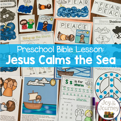 Preschool Bible Lessons: Jesus Calms the Sea