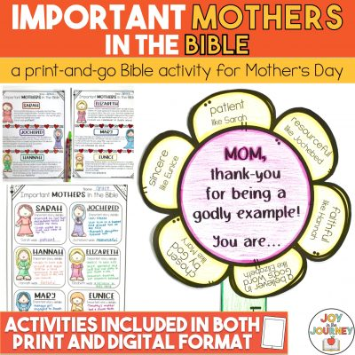 Bible Mother's Day Activity
