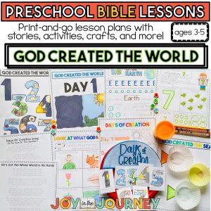 God Created the World activities for preschool