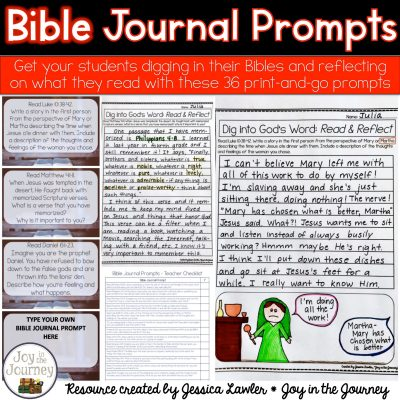 Weekly Bible Journal Prompts