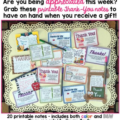 PRINT-AND-GO NOTES FOR TEACHER APPRECIATION WEEK