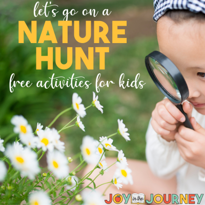 FREE Nature Hunt Activities For Kids