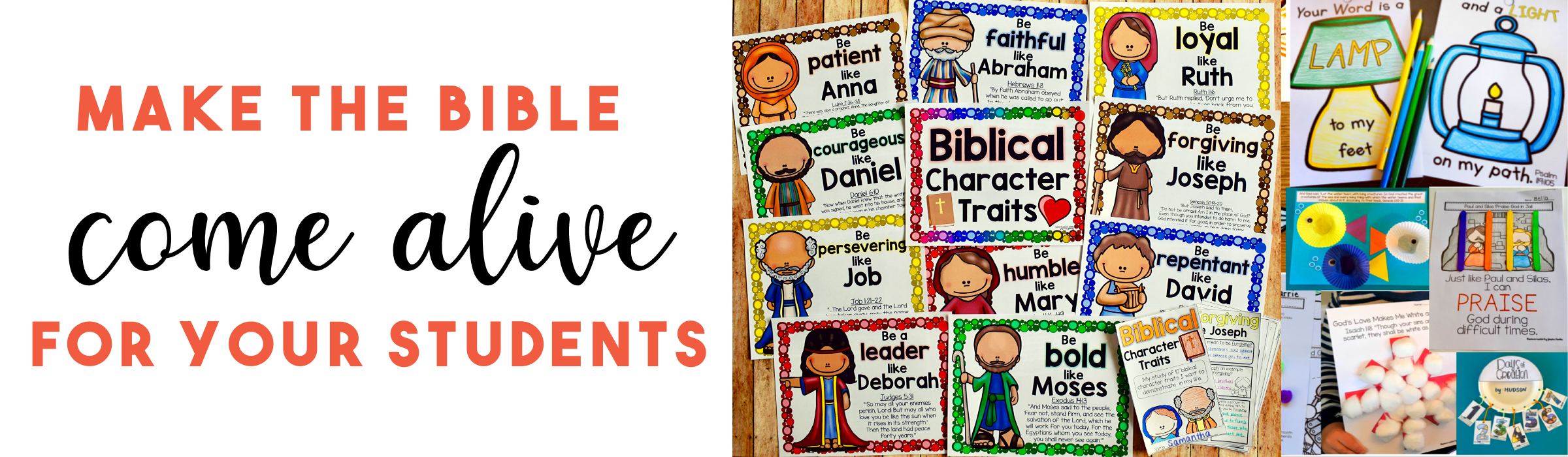 Bible activities for elementary students