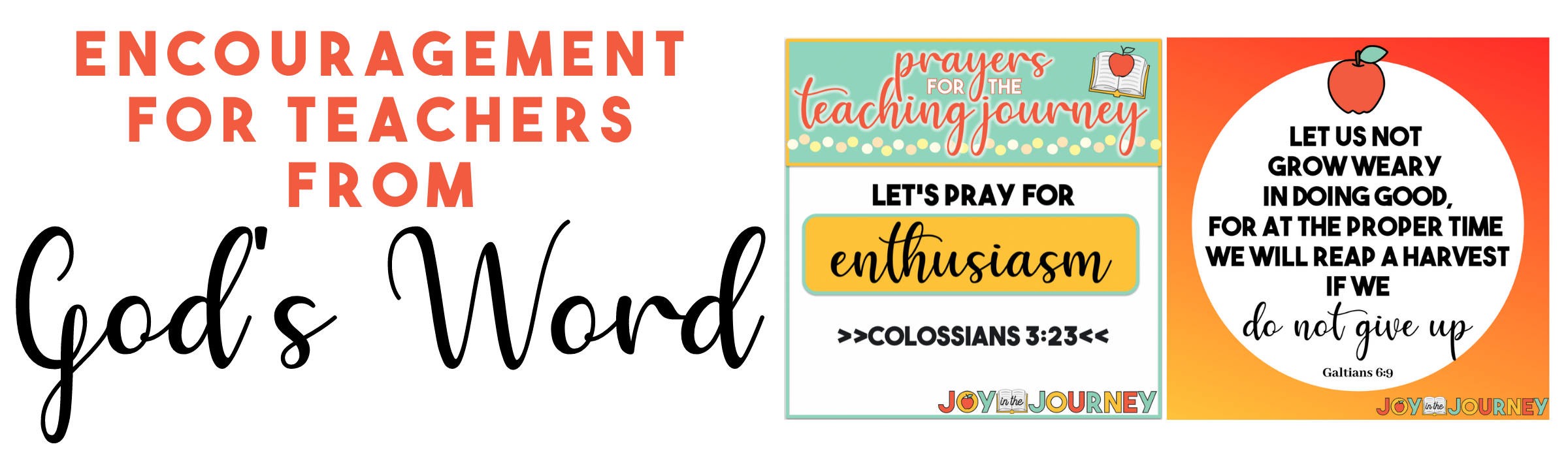 Encouragement from the Bible for teachers