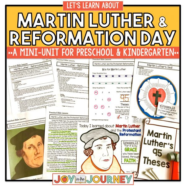 Martin Luther and Reformation Day preschool and kindergarten