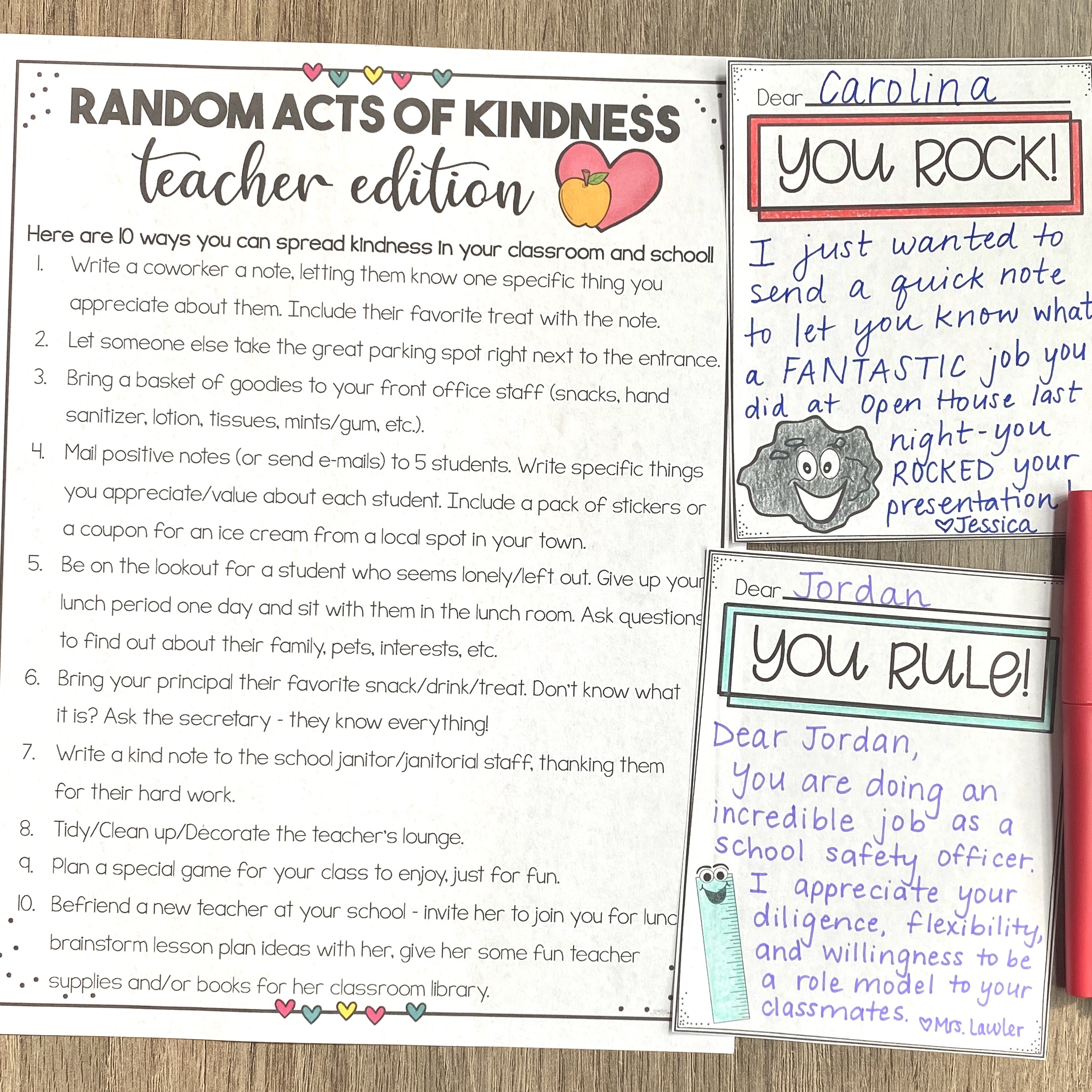 FREE Random Acts of Kindness for Teachers