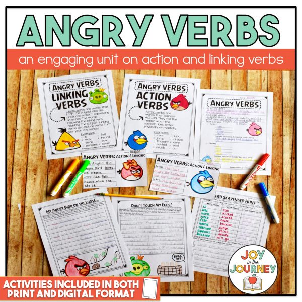 Angry Verbs - Action and Linking Verbs