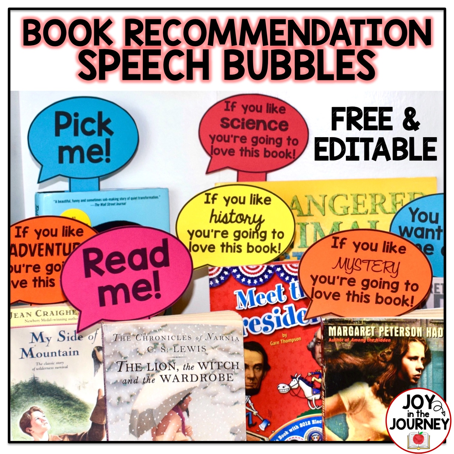 Free Book Recommendations Speech Bubbles