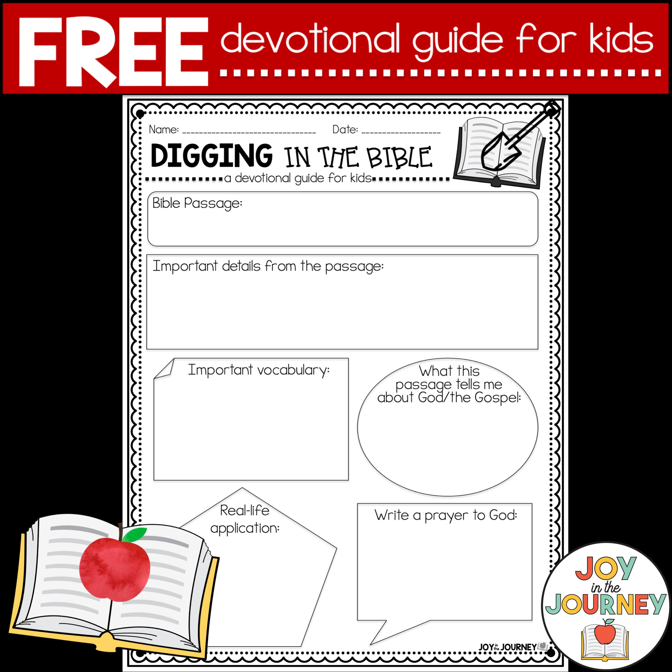 Free Devotional Page for Kids