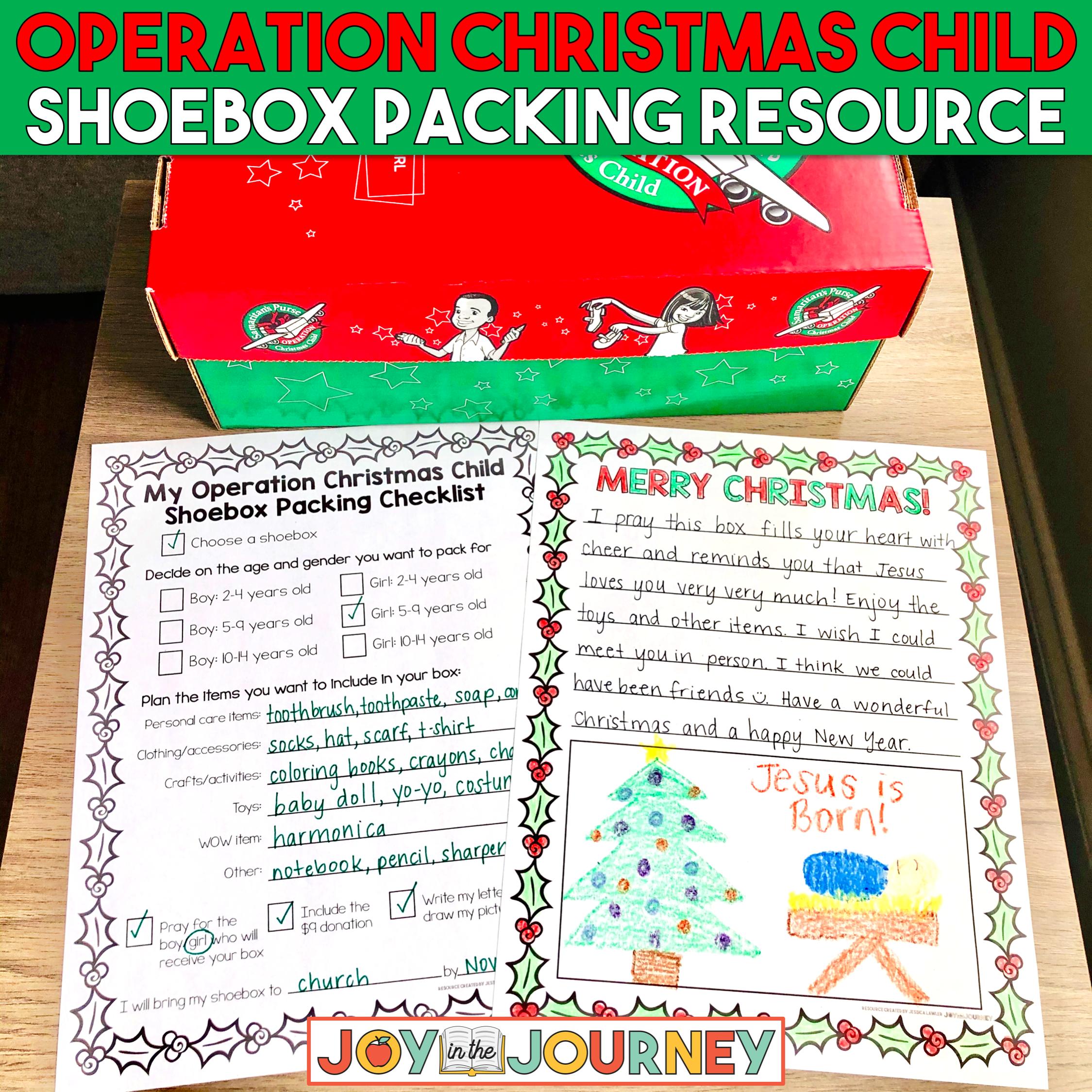 Operation Christmas Child Planning Sheet