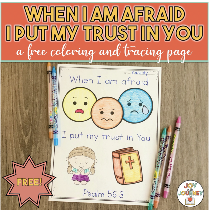 Coloring page: When I'm Afraid I Will Trust In You