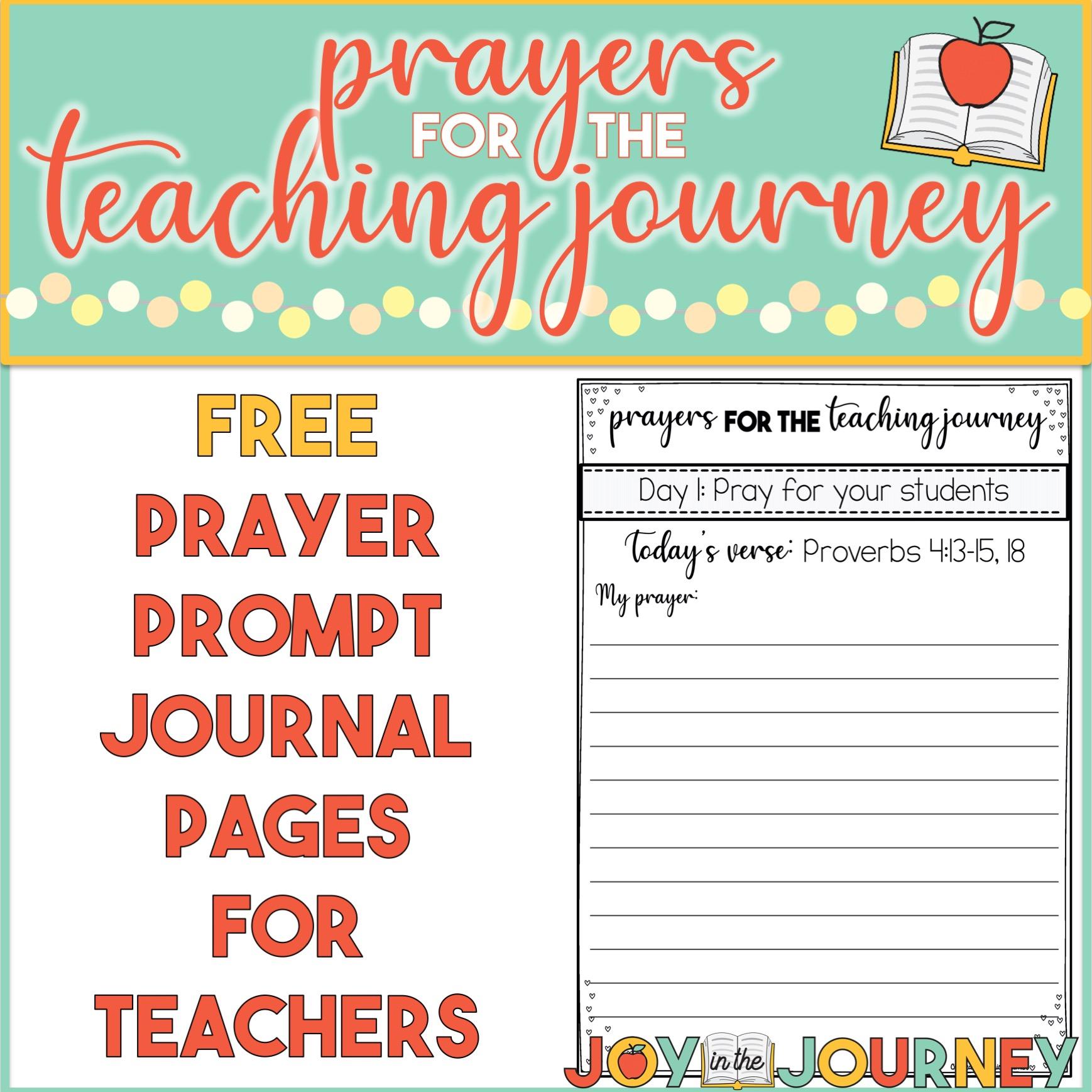 Free Prayer Prompts for Teachers
