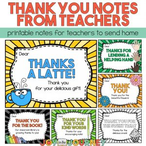 Teacher Thank You Notes