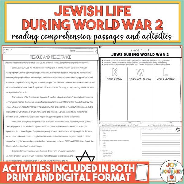 Holocaust World War 2 Reading Comprehension