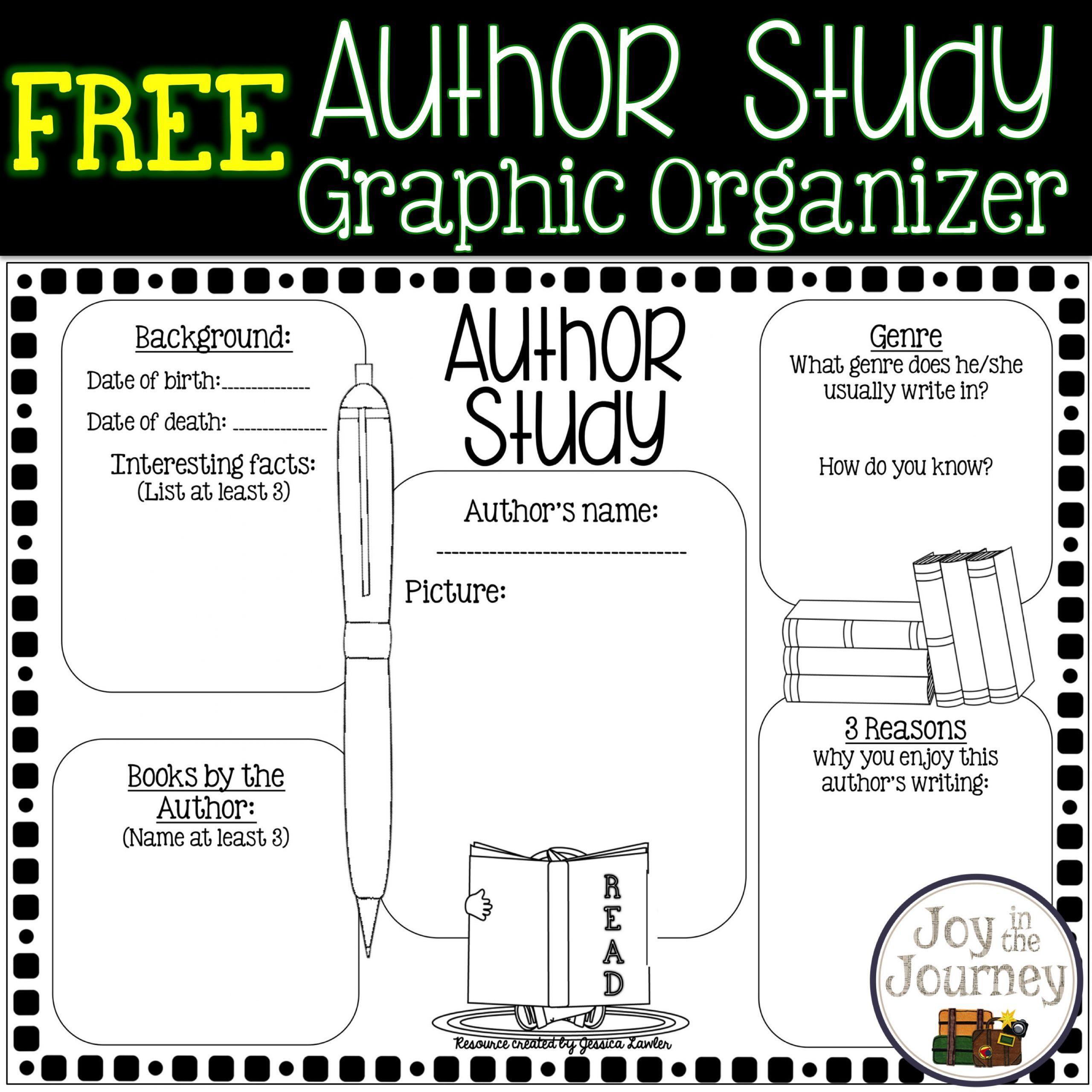 Free Author Study graphic organizer
