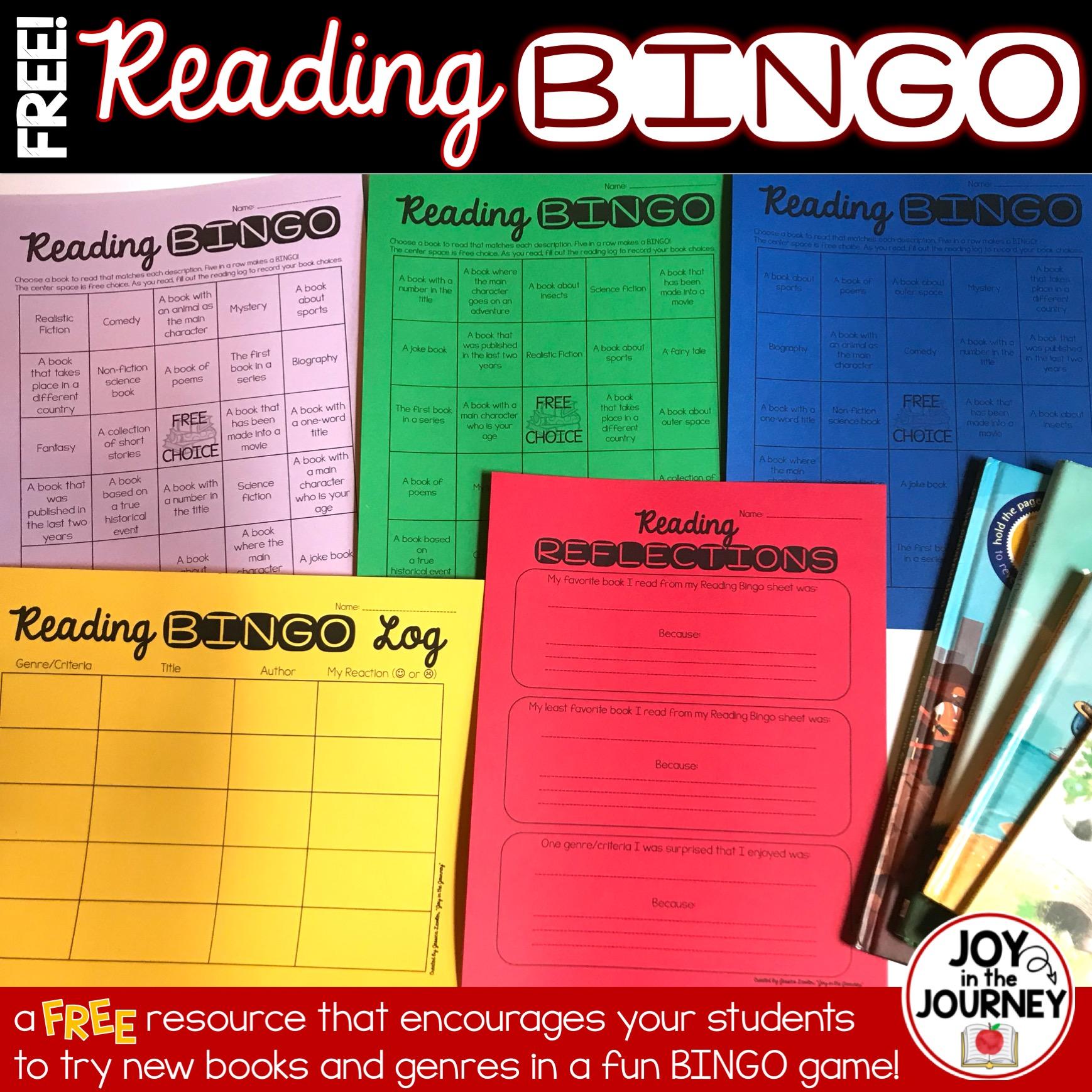 FREE Reading Bingo Pages