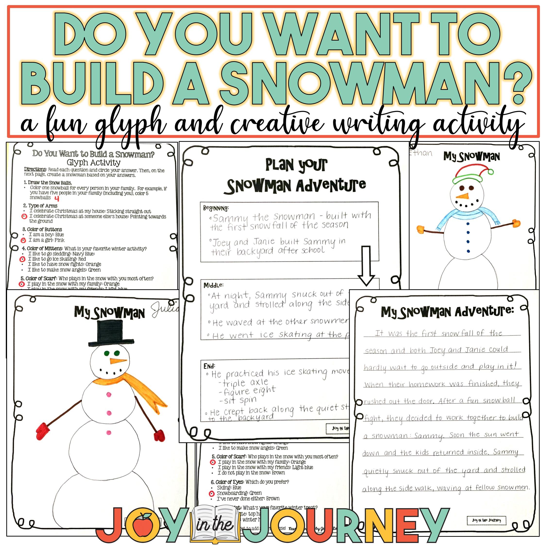 Free Snowman Glyph Writing Activity