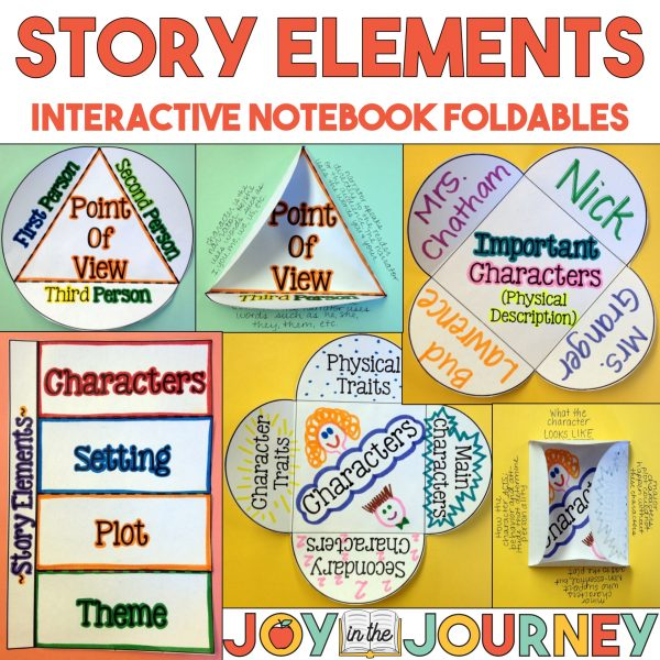 Story Elements Interactive Notebook Foldables