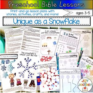 Preschool Bible Lessons: SNOW