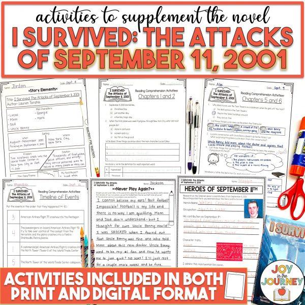 I Survived The Attacks of September 11, 2001 Novel Study