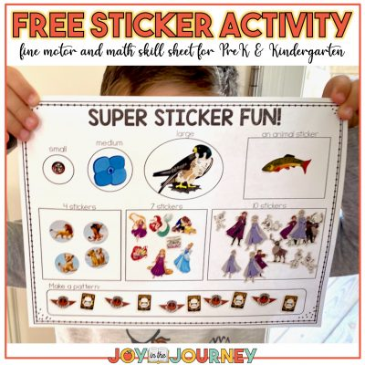 FREE sticker activity page